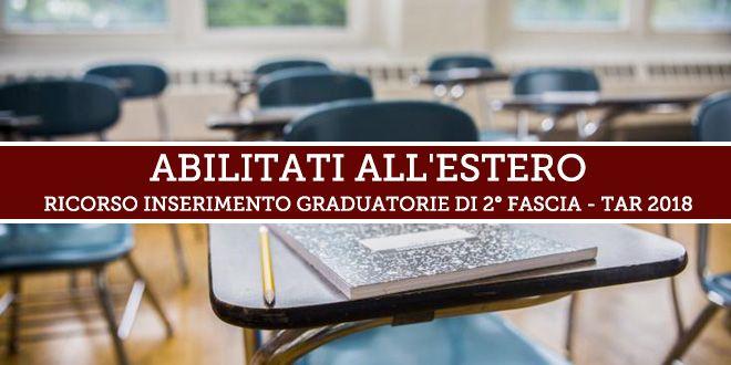 Prorogata al 12 giugno la scadenza per le adesioni al ricorso per l'inserimento nelle Graduatorie d'Istituto di 2° fascia degli Abilitati all'Estero