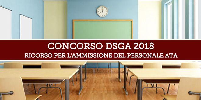 Proroga al 13 febbraio 2019 per il ricorso per la partecipazione al Concorso DSGA 2018