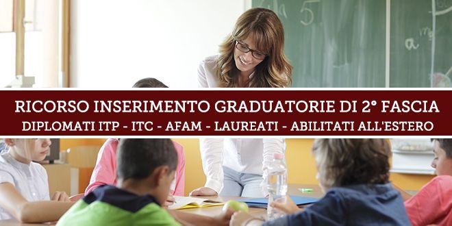 Ricorso Inserimento Graduatorie Istituto 2° fascia – Aggiornamento 2019
