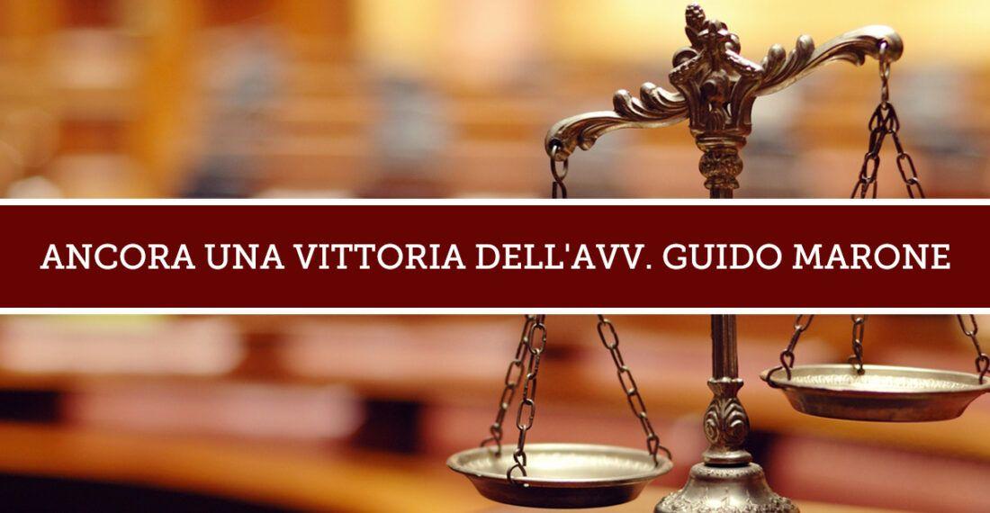 Nuova vittoria dello Studio Legale Marone