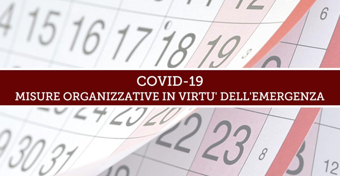 COVID-19 – Misure organizzative adottate dallo Studio Legale Marone