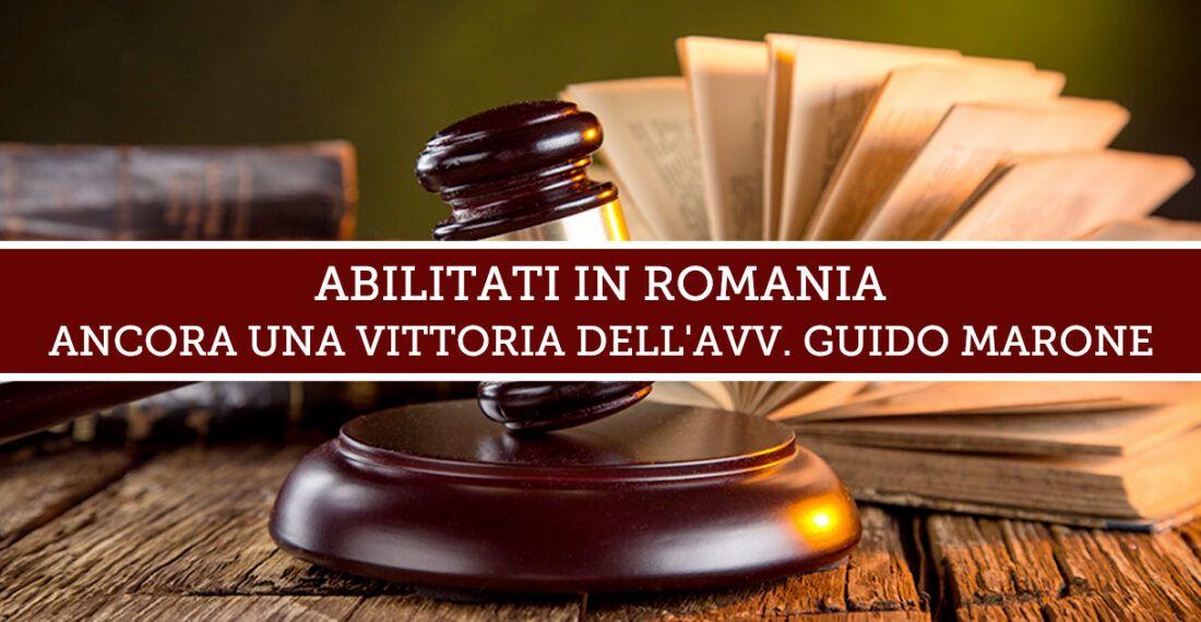 Abilitati in Romania: ancora una vittoria dello Studio Legale Marone.