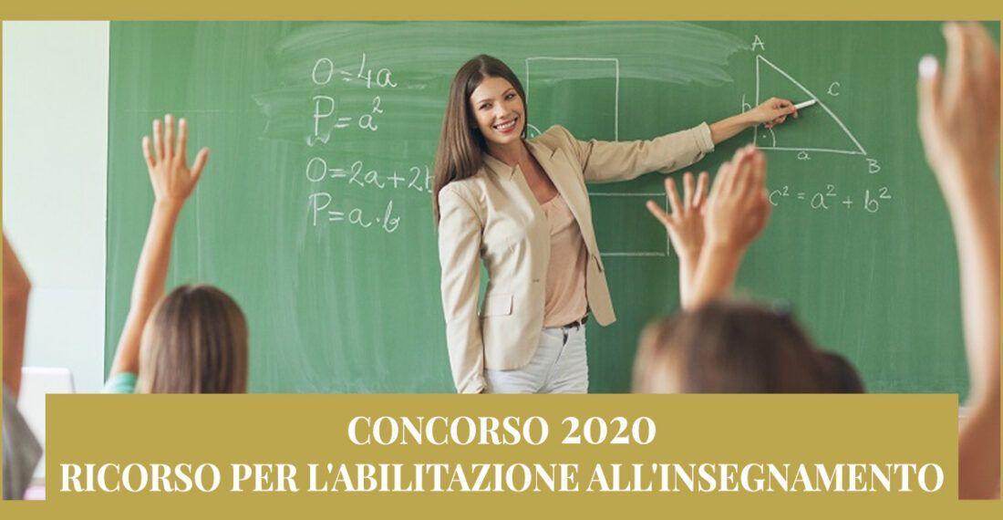 Ricorso per Abilitazione all'insegnamento – Concorso 2020