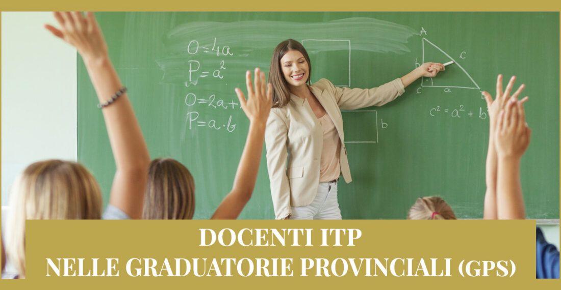 Docenti ITP – Ricorso Graduatorie provinciali (GPS)
