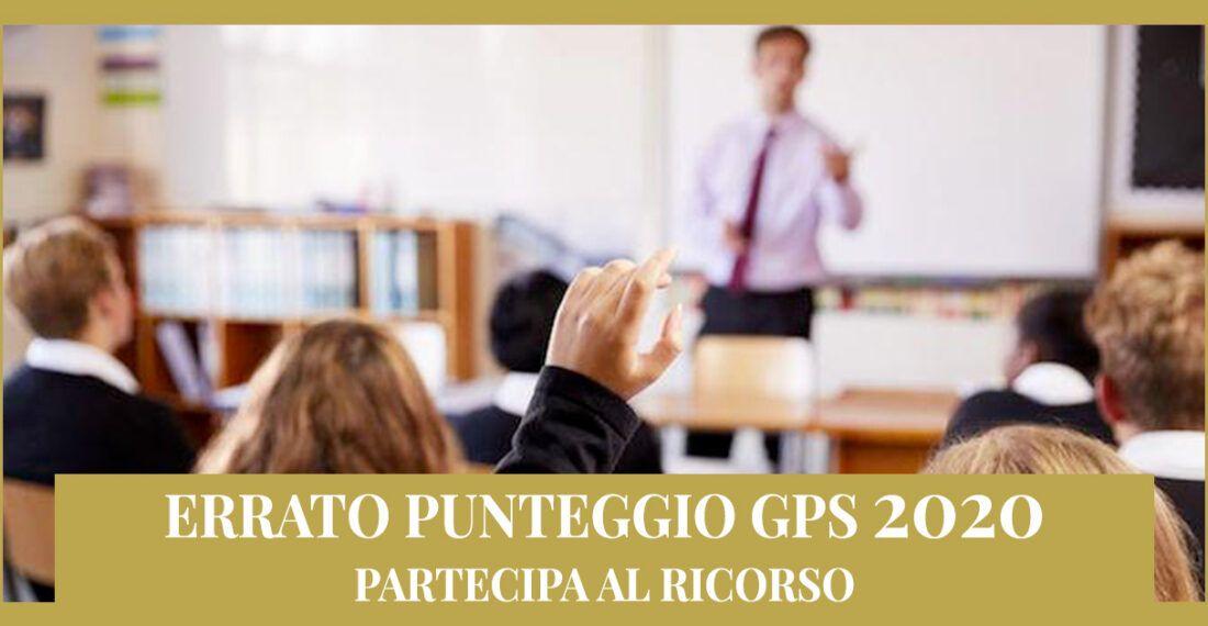 Ricorso avverso gli errori commessi nella valutazione dei punteggi nelle GPS 2020.