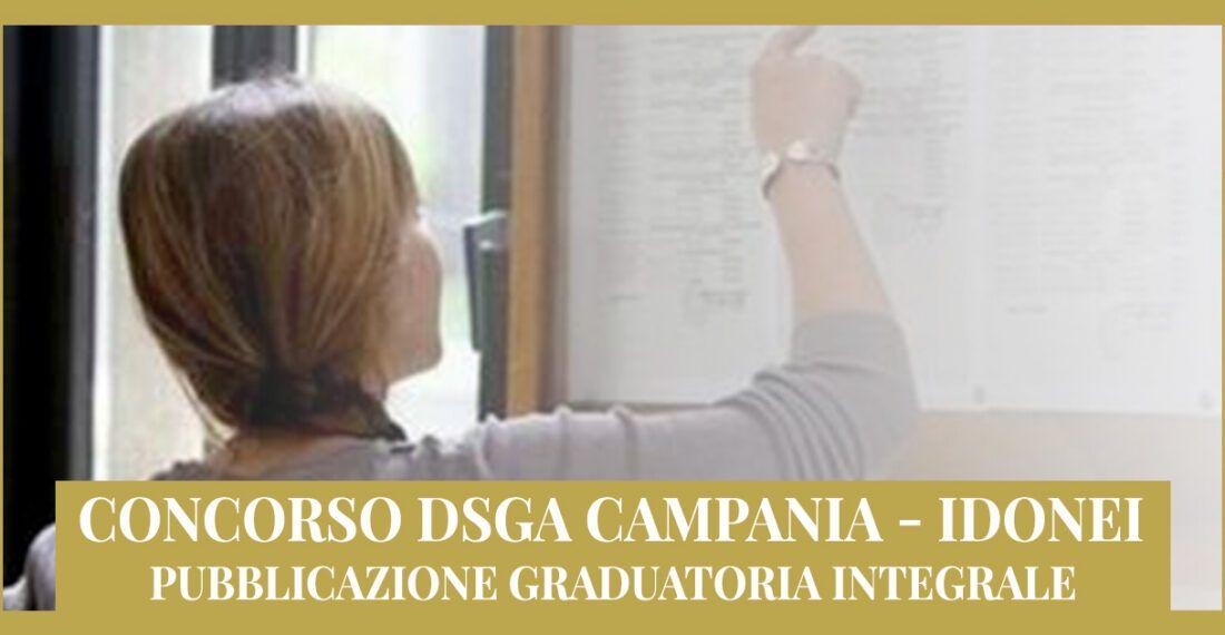 Concorso DSGA Campania – Idonei – Pubblicazione Graduatoria integrale