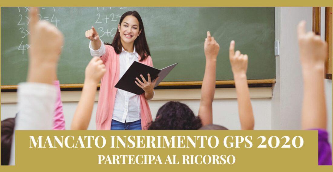 Mancato inserimento GPS 2020 – Informativa ricorso