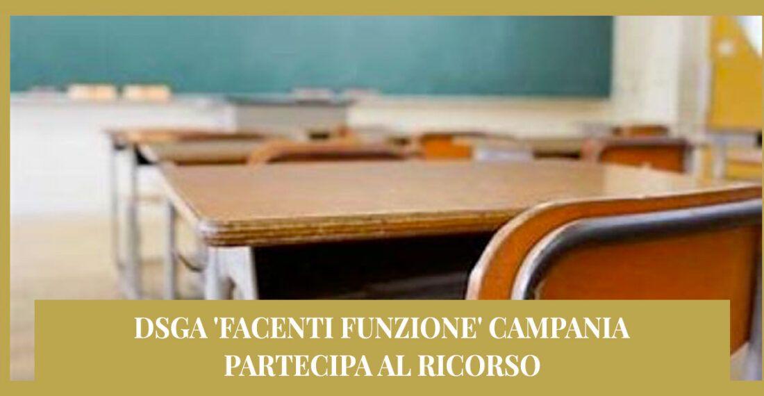 Ricorso Dsga 'facenti funzione' Campania