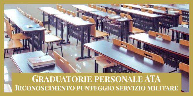 Graduatorie personale ATA – Riconoscimento punteggio servizio militare